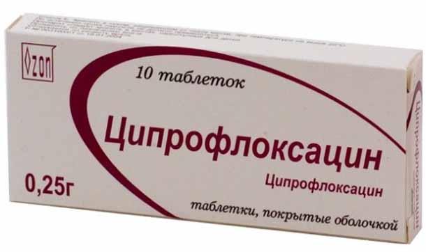Ципрофлоксацин при воспалении почек